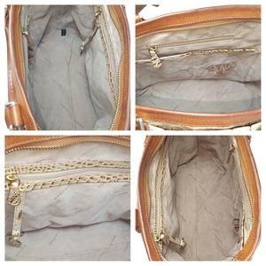 Brahmin Bags - Brahmin Mini Arno Champagne Tri-Texture Satchel